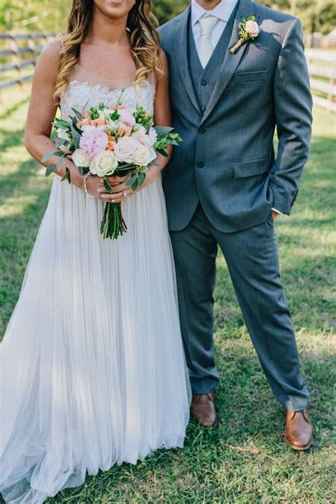 Bride and Groom Attire   Spring Rustic Romance  Love