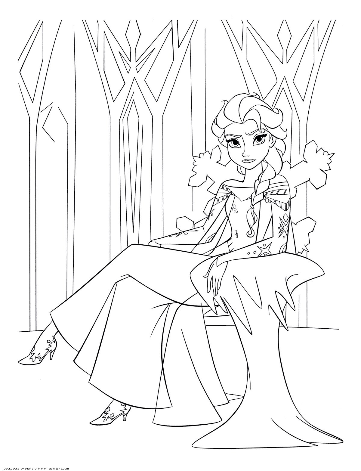 65 dessins de coloriage Elsa  imprimer sur LaGuerche