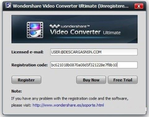 Wondershare Video Converter Ultimate Key