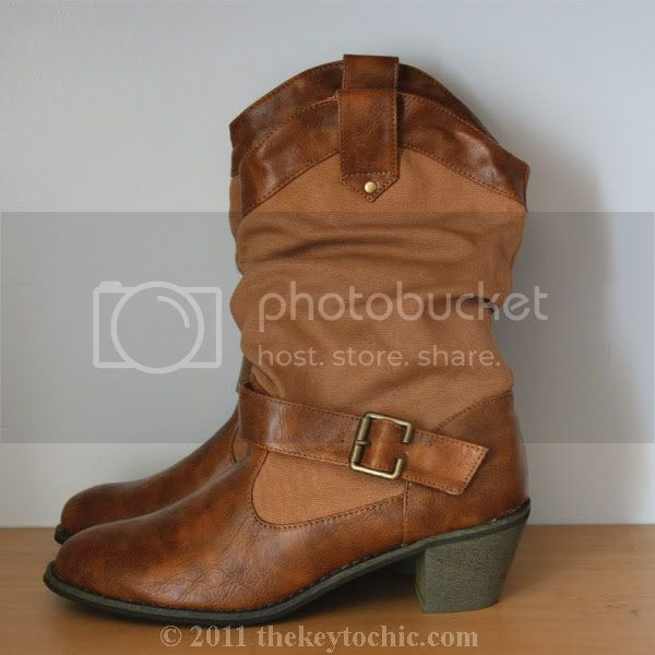 distressed mid calf cowboy boots Wet Seal boots
