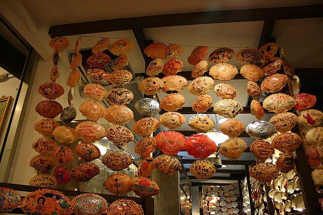 Autographed crab shells
