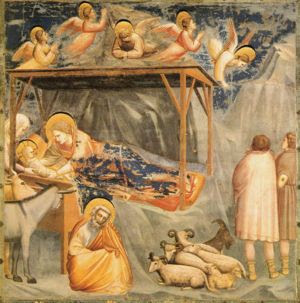 The Nativity in the Scrovegni Chapel by Giotto...