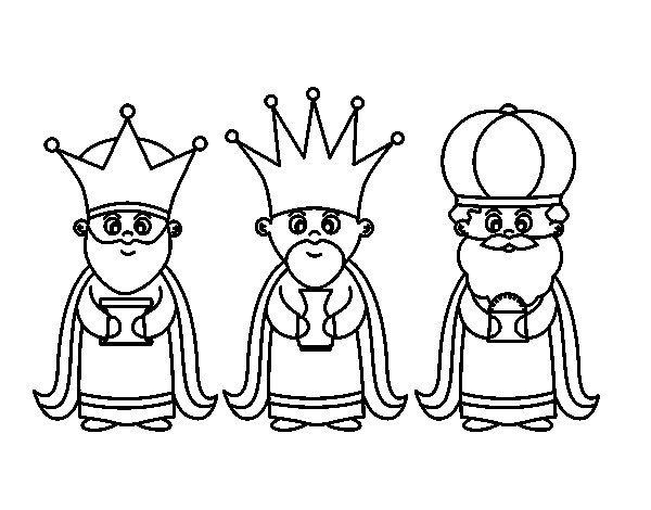 Dibujo Reyes Magos Infantil