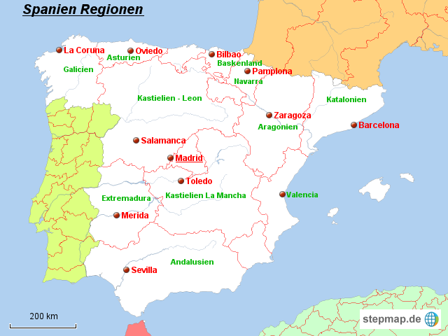 Spanien Karte Regionen.Fidedivine 25 Beste Landkarte Spanien Karte