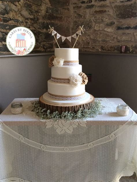 25  best ideas about Wedding cake hessian on Pinterest