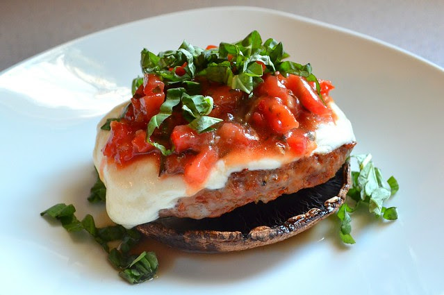 Sausage & Portobello Stacks