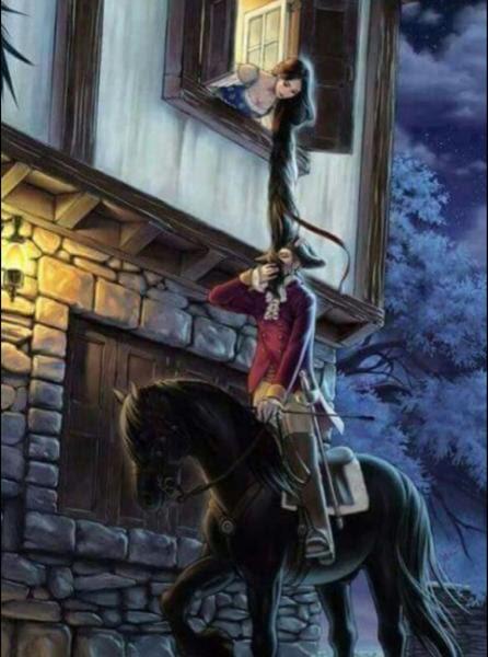 幽霊の正体見たりラプンツェル 馬へのボケ59028572 ボケてbokete