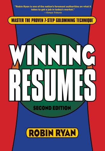 cheap winning resumes  2nd edition