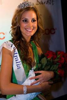 Miss Universe Australia 2008 Laura Dundovic showcases the