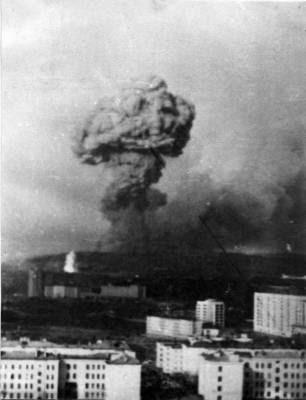 Взрыв на Окольной (Вид из Североморска)