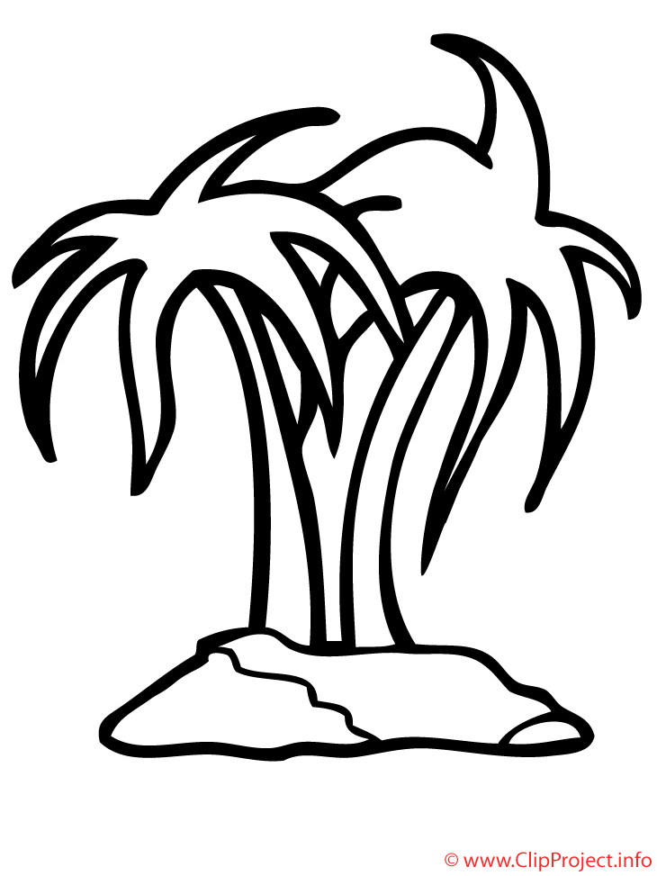 Palmeras En La Isla Dibujo Para Colorear Gratis Az Dibujos Para
