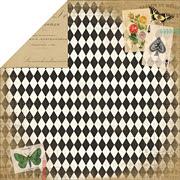 Yesterday Papillon Scrapbook Paper*