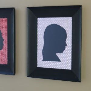 fabric silhouette frames tutorial (+ tons of other great tutorials on this site)