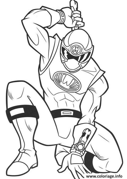 Coloriage Power Ranger Samurai Ninja Jecoloriecom