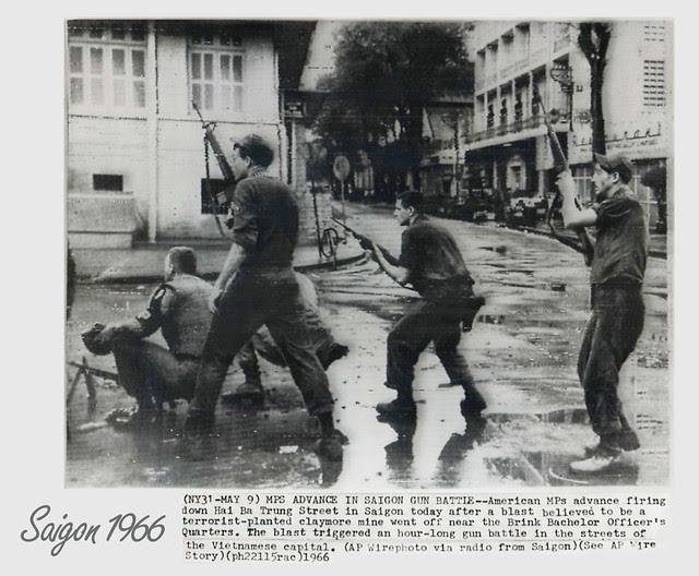 SAIGON 1966 -  MPs in Action on Hai Ba Trung Street in Saigon