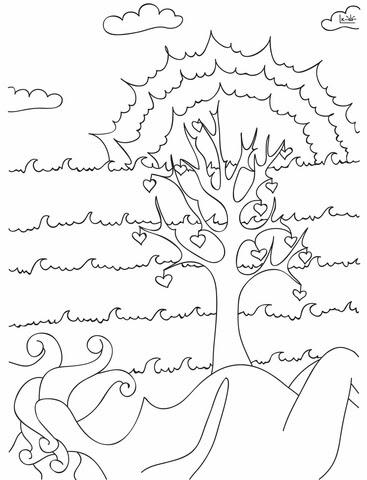 Dibujo De árbol De La Vida Para Colorear Dibujos Para Colorear