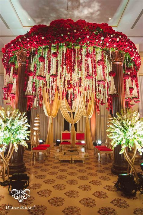 Floral Mandap Decor Indoor Floral Mandap   Wedding decor