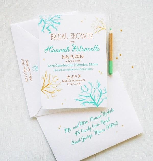 Bridal Shower Invitations Unique Bridal Shower Invitations Beach Theme