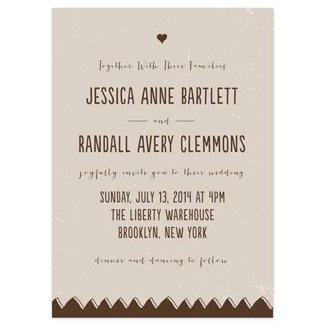 Drawn Together Wedding Invitations   Receptions, Modern