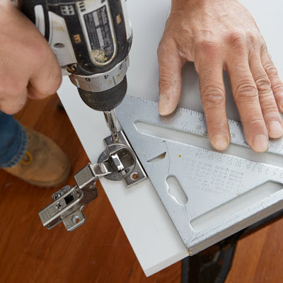 Install The Hinge Cups   How to Install Concealed Euro ...