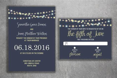 Wedding Invitations Set Printed   Wedding Invitations