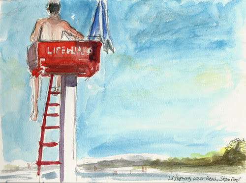 Lifeguard at West Beach, Stamford, CT