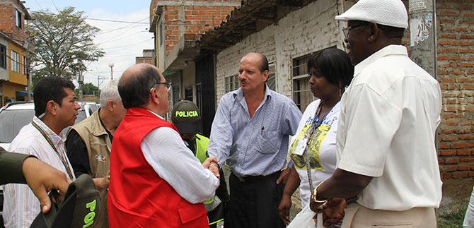 Alcalde Guerrero inspecciona trabajos realizados en el sur y norte de Cali