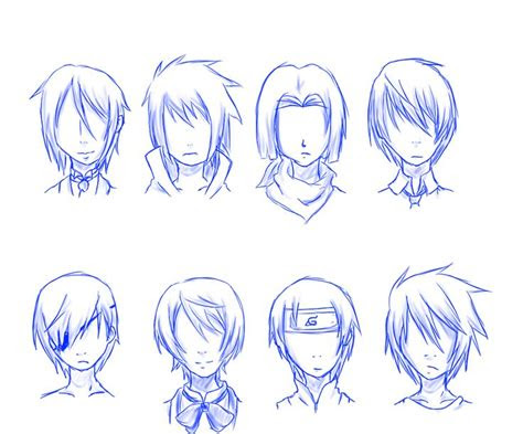 guy hair styles   anime drawing ideas