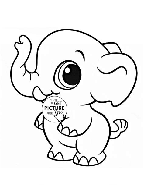 coloring pages  elephant coloring page  kids
