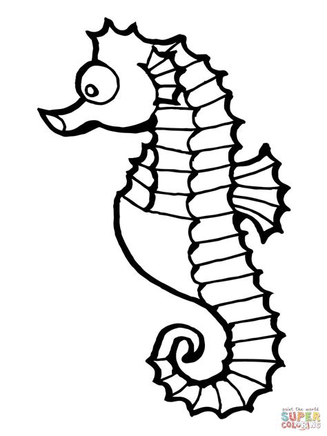 seahorse fish coloring page  printable coloring pages