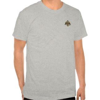 Byzantine Empire Two Headed Eagle Emblem Shirt zazzle_shirt