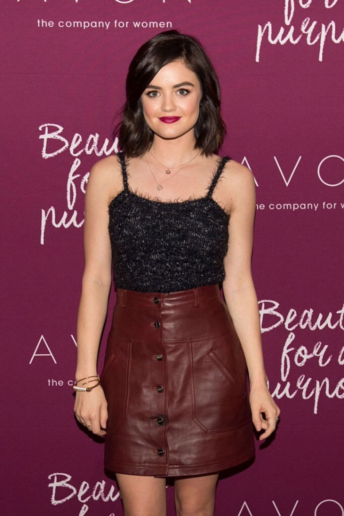 LUCY HALE at Mark. Holiday Collection Event at Avon Products, Inc. in New York 10/28/2015
