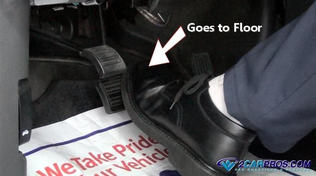 Auto Repair Advice Guide Brake Pedal Goes Floor