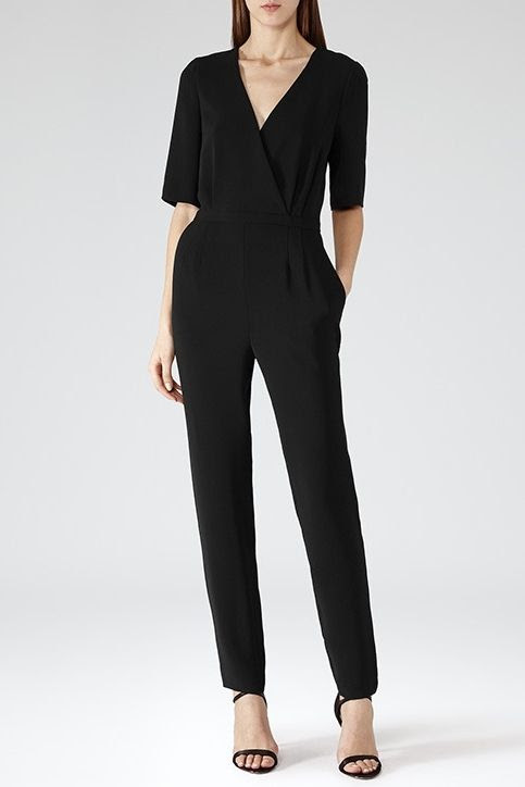 REISS Brooke Wrap Detail Jumpsuit