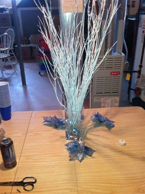 Winter Wedding Centerpiece : wedding blue centerpieces
