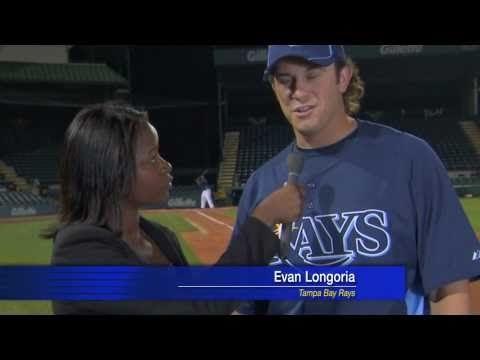 Evan Longoria salva la giornalista.Baseball Usa