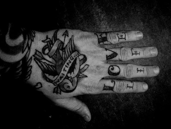 How Long Do Finger Tattoos Last Faded And Blurred Fingers