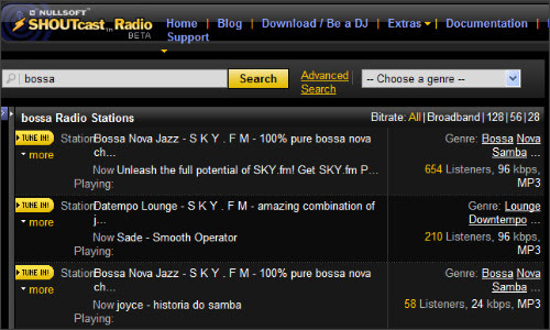 http://www.shoutcast.com/directory/search_results.jsp?searchCrit=simple&s=bossa
