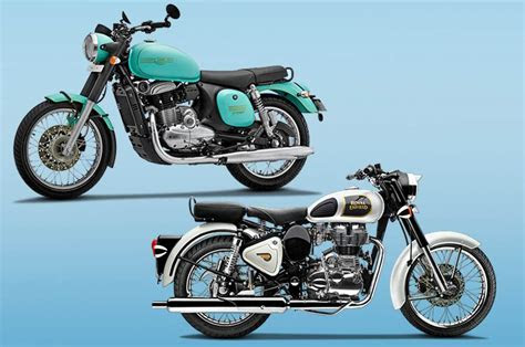 jawa forty   royal enfield classic