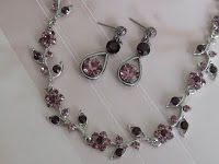 Maisie Jewelry: Mauve lavender violet amethyst rhinestone jewelry set