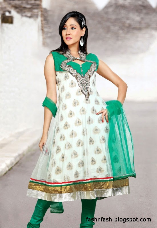 Anarkali Fancy Frocks-Indian-Pakistani Anarkali Umbrella Frocks New Latest Collection Dress Designs-3