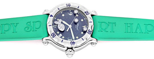 Originalfoto CHOPARD DIAMANT UHR HAPPY SPORT HAPPY FISH BEACH