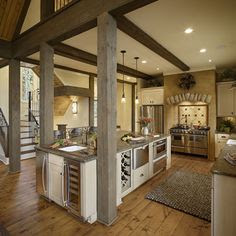 Post And Beam Decorating Home Interior Design