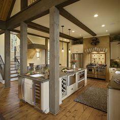 Post And Beam Decorating Home Interior Design