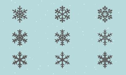 雪の結晶 シルエット 2 Ec Designデザイン