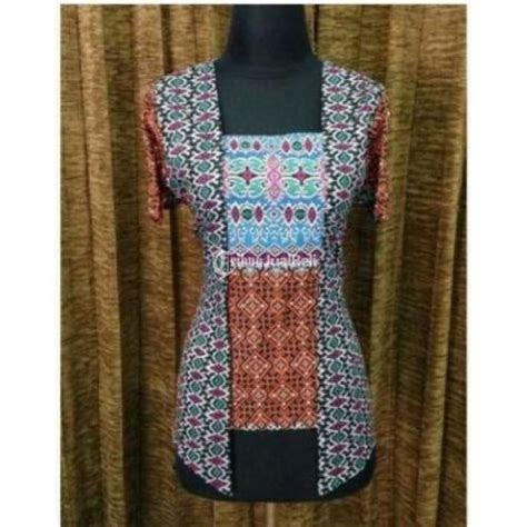 baju atasan wanita model kebaya motif batik etnik unik