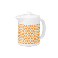 Vintage Orange Teapot