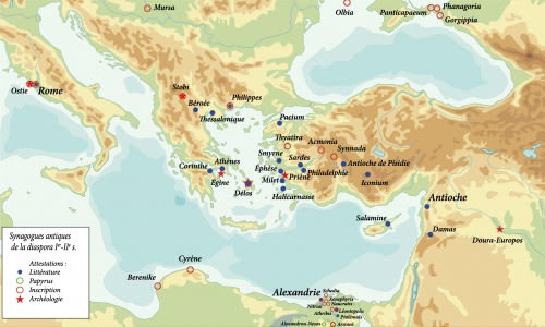 Map of Ancient Synagogues