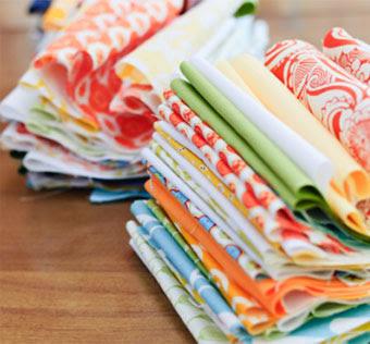 Multi Colored Quilting Fabric Squares