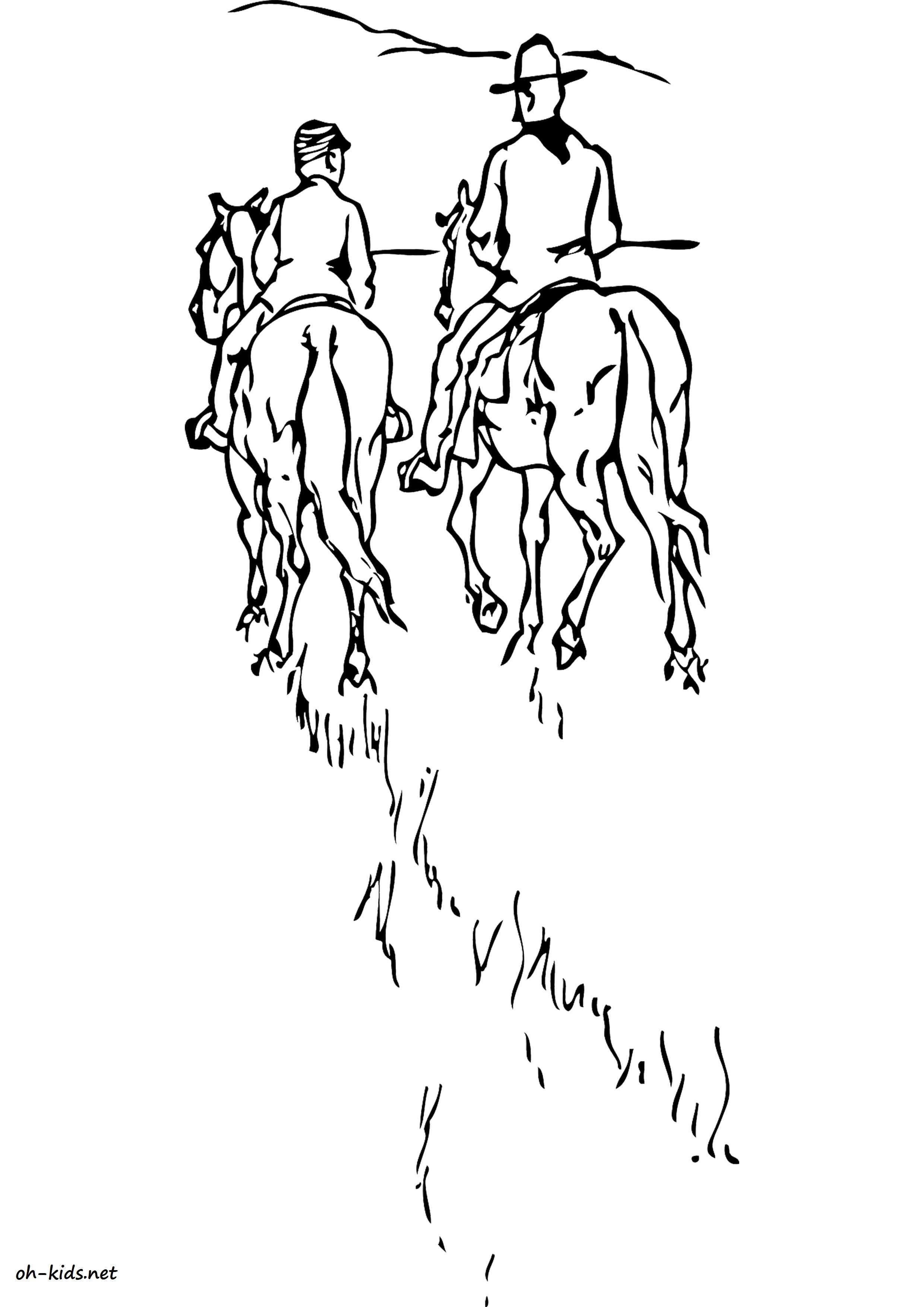 coloriage de équitation a imprimer Dessin 1372